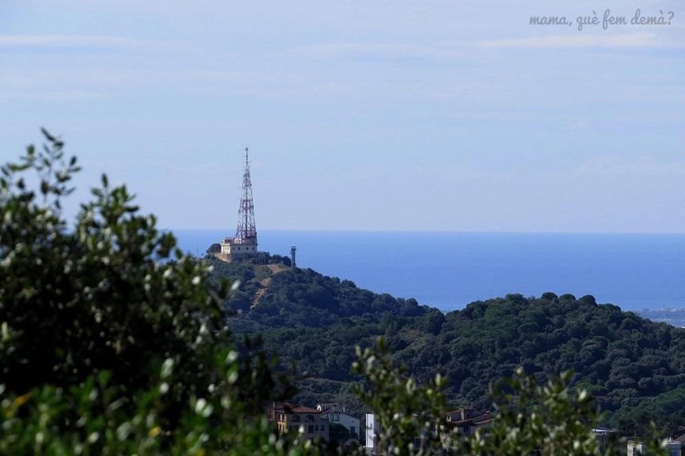 La antena de Sant Pere Màrtir desde la serra d'en Cardona