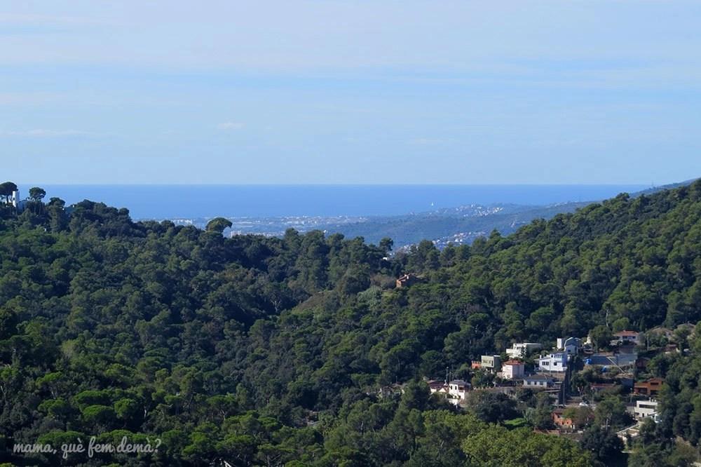 Vistas del mar desde la serra d'en Cardona