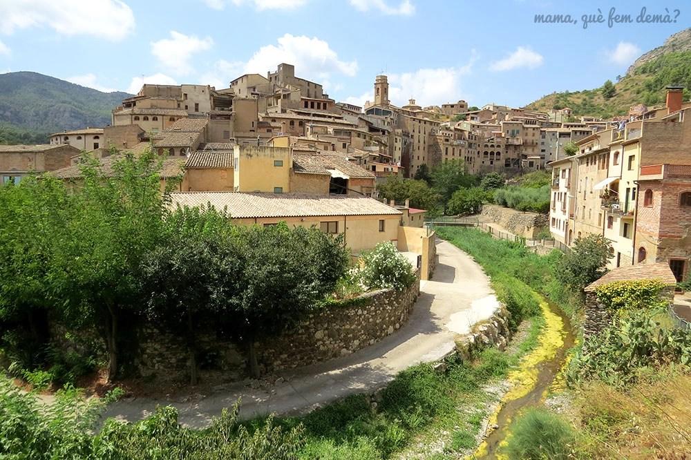 Panorámica del pueblo la Vilella Baixa