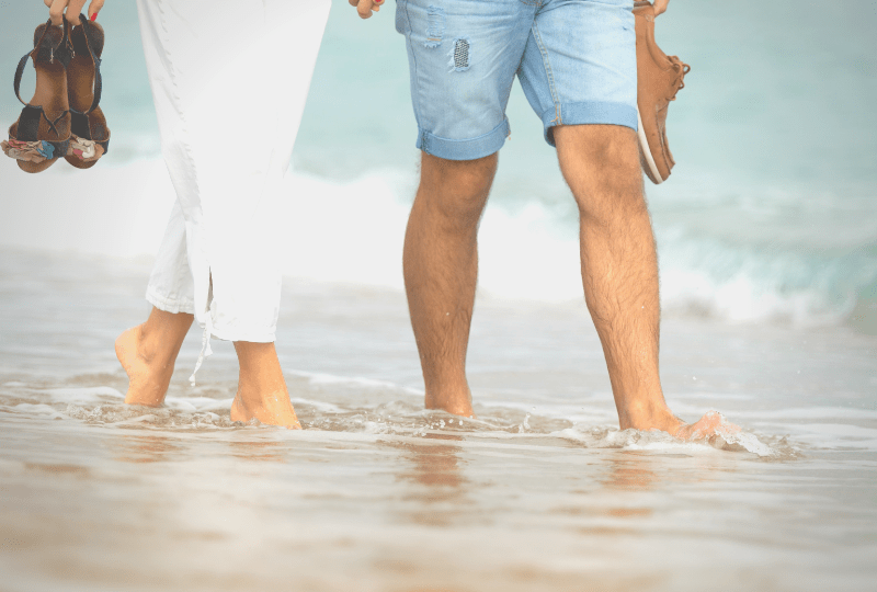 Quality time in marriage feature image of husband and wife walking