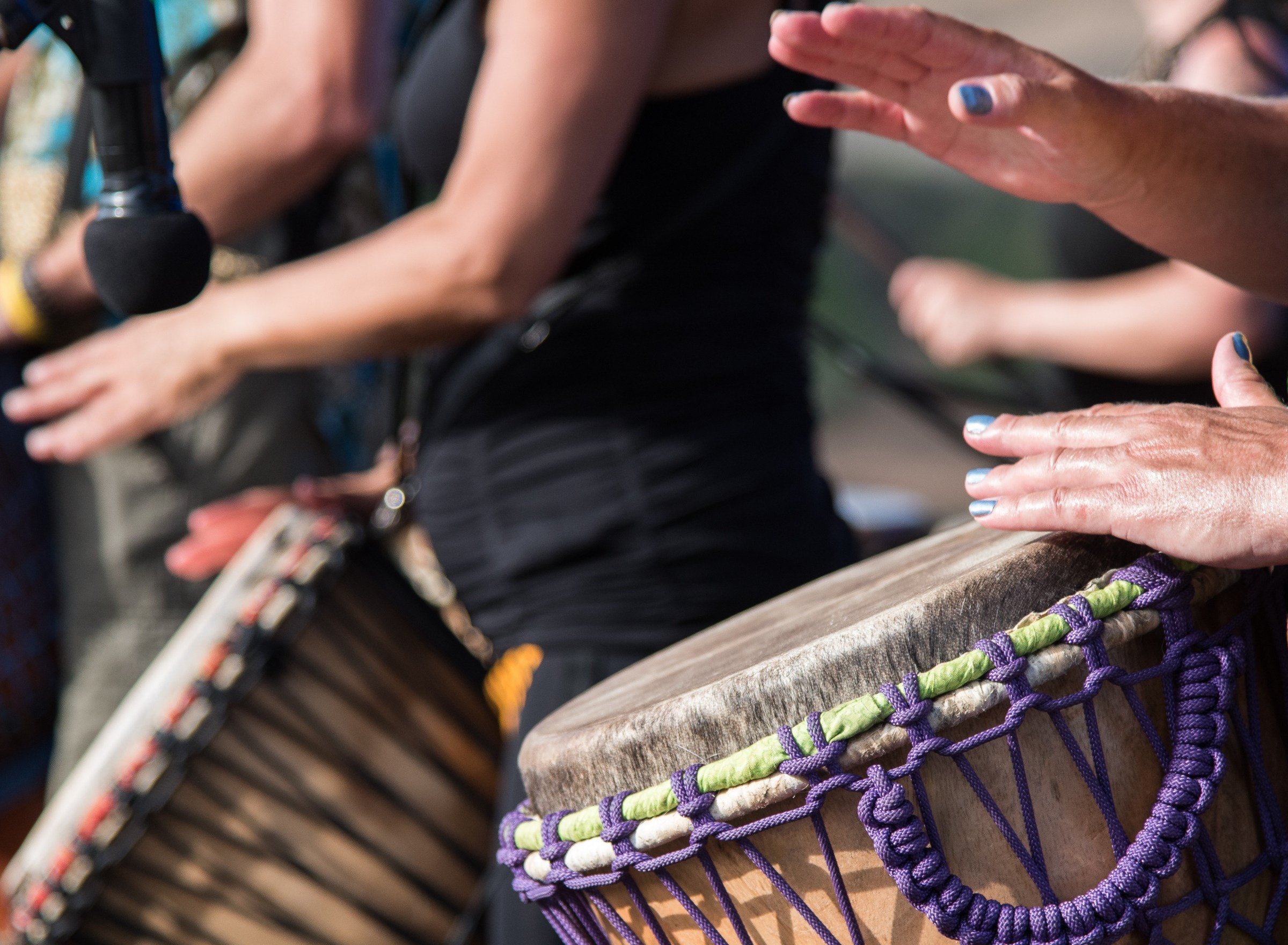 Intentionality in life and mothering creates a rhythmic atmosphere just like soothing drumbeats