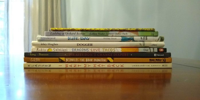 A stack with some of the best picture books we've read in 2019. My 3 year old's favorite books. Great books for preschoolers.