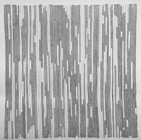 """Jennifer Cadoff, Recording, Ink on Warercolor paper, 40""""x40"""", $1,200"""