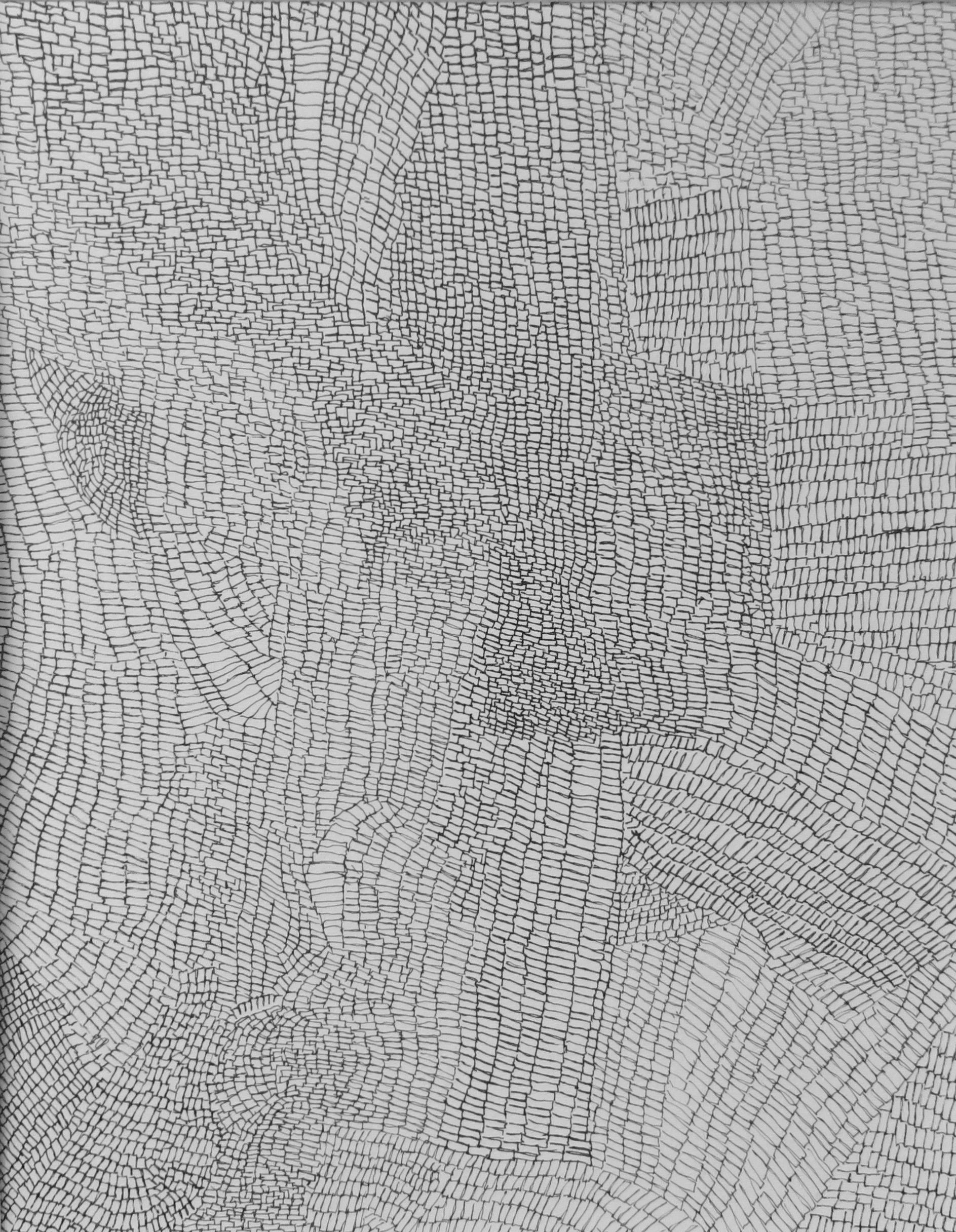 "Annette Lieblein, Clusters, Pen on Paper, 8"" x 10"", $500"