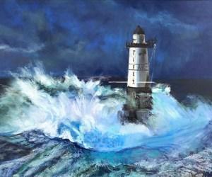 """Vera Kirilenko, Lighthouse, Pastel, 13""""x15"""", $350"""