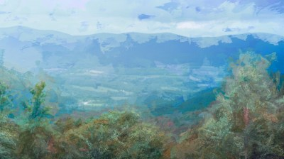 "H. David Stein, View From Mt. Greylock, Altered Photograph, 10"" x 18"", $450"