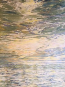 "Helen Schiliro, Where Sky Meets Sea, Acrylic, 24""x30"", $800"