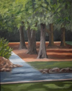"Mitchell Visoky, Promenade, Oil, 14""x11"", $400"