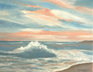 "Barbara Hamill, South Beach Sunset, Pastel, 12""x18"", $1,200"