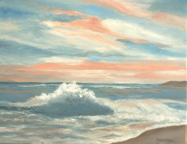 "Barbara Hamill, South Beach Sunset, Pastel, 12""x18"", $1,200"