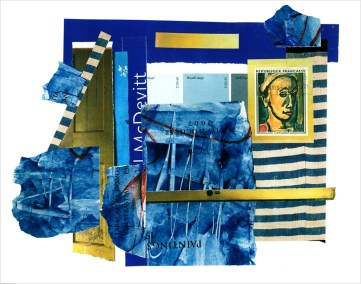 "Chris Timmons, McDevitt, Mixed-media Collage, 11""x14"", $600"