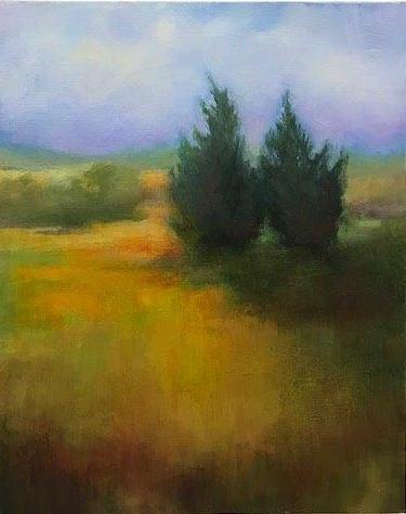 "Virginia Zelman, The Couple, 0il on canvas, 16""x20"", $700"