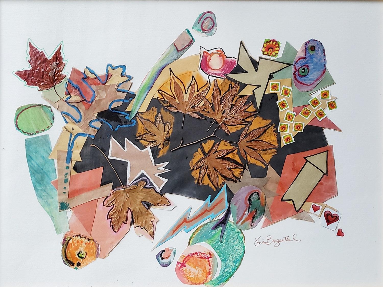 "Vivian Bergenthal, Autumn Delight, Mixed media, 18""x24"", $695"