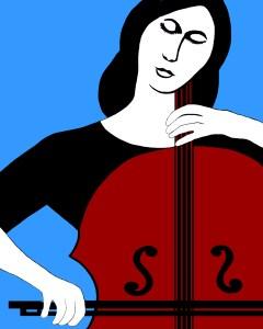 """Joan Lengel, Cello Girl, Digital, 16""""x20"""", $250"""