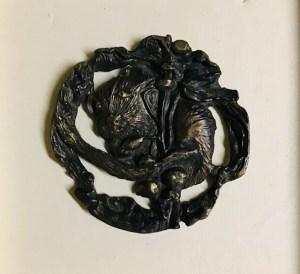 """Inge Pape Trampler, Hiding, Bronze sculpture, 5 1/2"""", $600"""