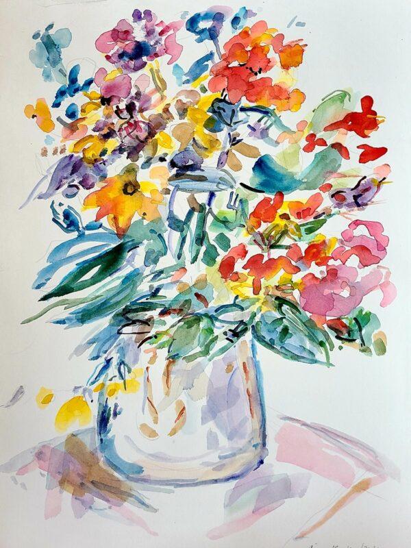 """Riva Kaplan, Start Again, Watercolor, 16""""x12"""", $275"""