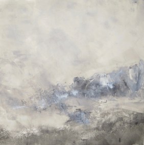 """Annette Lieblein, Below the Cliffs, Monoprint, 12""""x12"""", $600"""