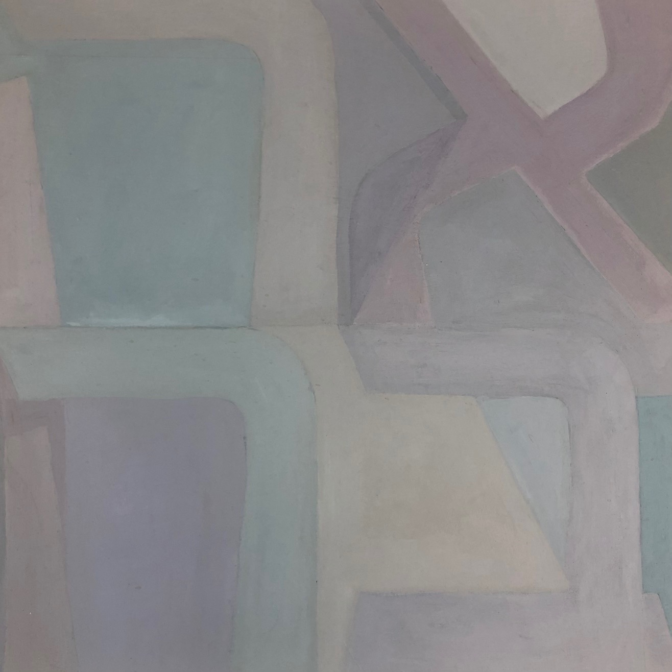 "Paula Blumenfeld, Ahava (Love), Oil on heavy bond, 20""x20"", $465"