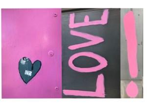 """Amy Nathan, Greeting card: Larchmont Grafitti, 5""""x7"""", $6"""