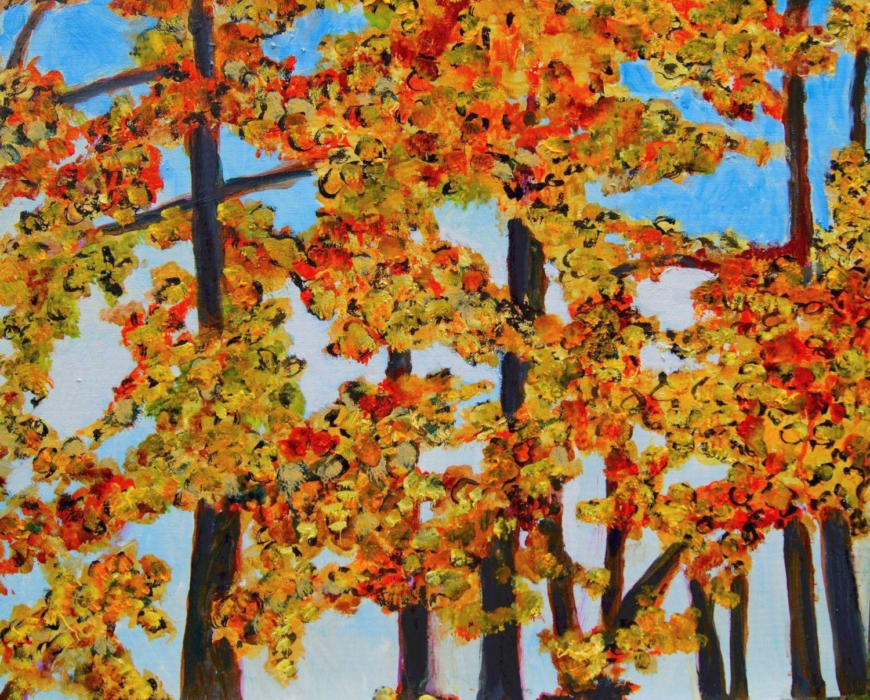 """Don Sexton, Foliage 2, Oil on canvas, 16""""X20"""", $380"""