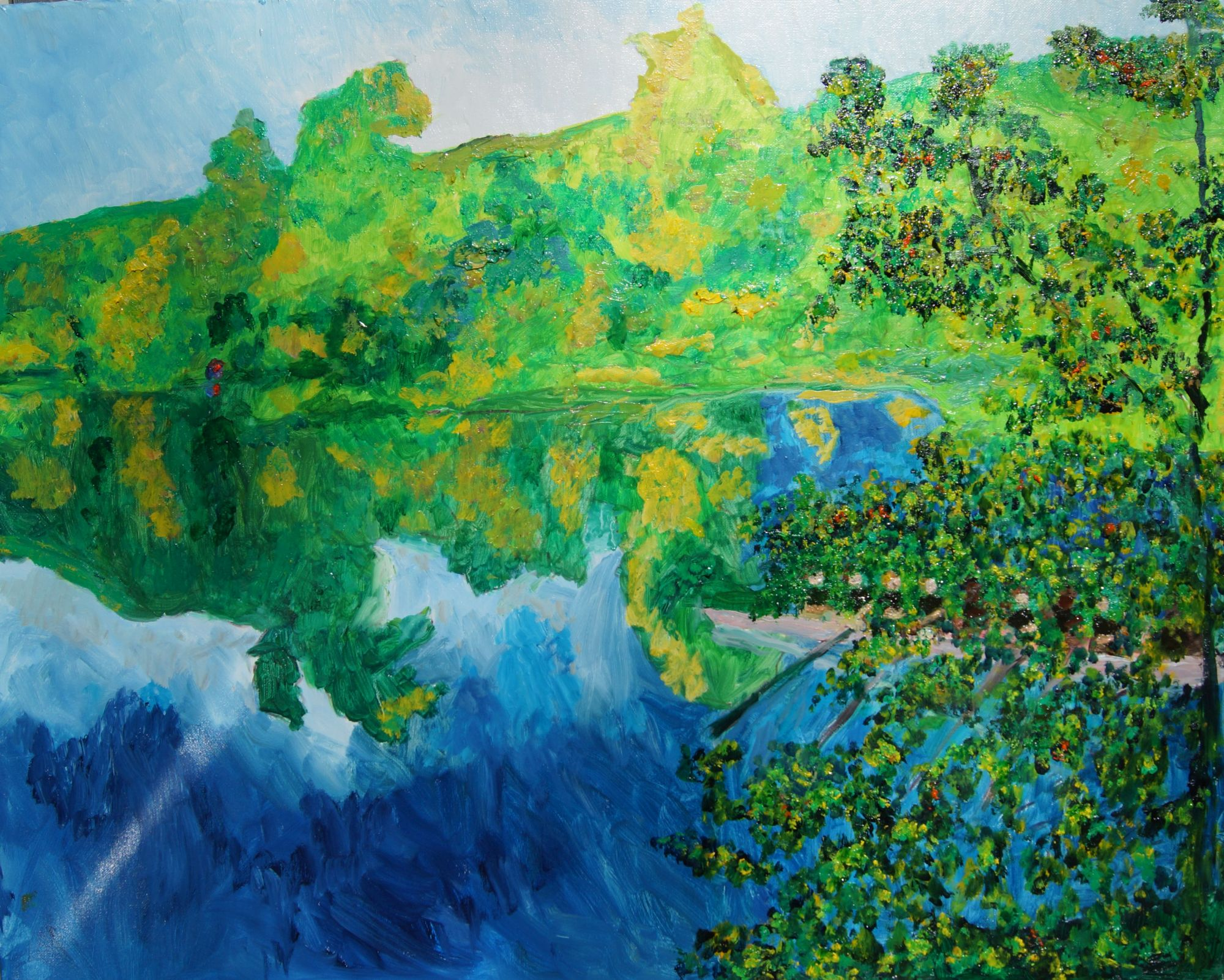 "Don Sexton, Housatonic River at Kent, Oil on canvas, 24""x30"", $2,480"