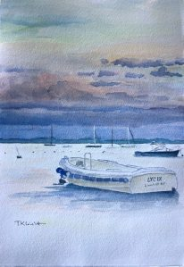 "Tricia K Leicht, After storm, Watercolor, 7.5""x11"", $350"