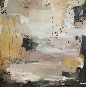 "Roohi Saleem, Whisper Away, Acrylics on Canvas, 24""x24"", $1,500"