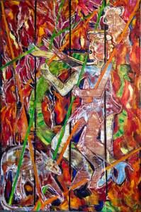 "Susan Bush, One Billion, Acrylic, wax on linen, 66""x44"", $14,500"