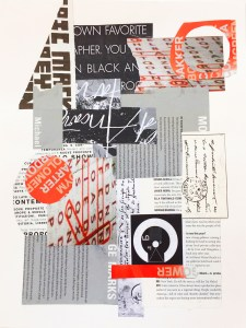 """Chris Timmons, Black, White & Red III, Mixed media, 11""""x14"""", $350"""