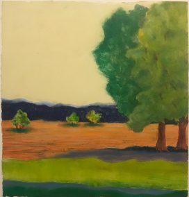 "Sheila Fane, Warm Summer Fields Again, Monotype, 12""x11"" (16""x16"" framed), $400"