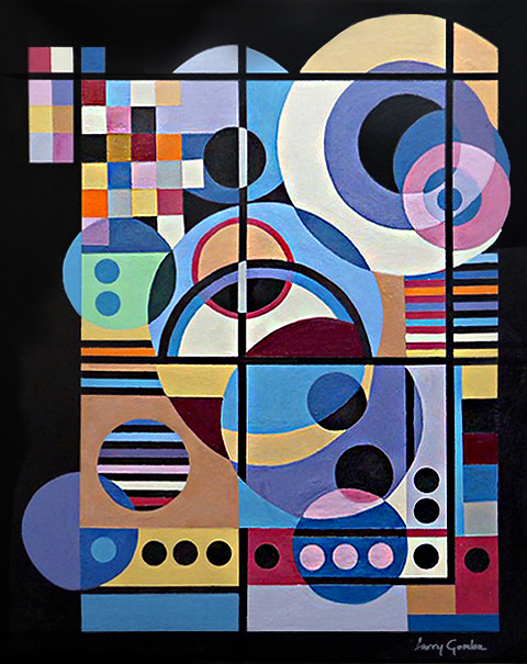 "Larry Gordon, Black Nocturne, Acrylic on Canvas, 16""x20"", $950"