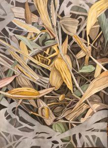 "Lorie Gurian, Detritus, Watercolor, 14""x20"", $400"
