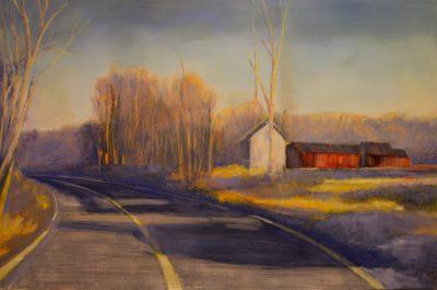 """Jane Black, Lengthening Shadows, Oil , 24""""x36"""", $1,200"""