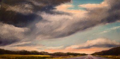 "Jane Black, Lonely Road, Oil, 24""x48"", $1,800"