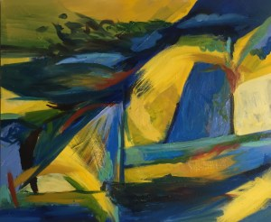 """Hilda Green Demsky, Time will Fly, Oil on canvas, 20""""x24"""",$600"""
