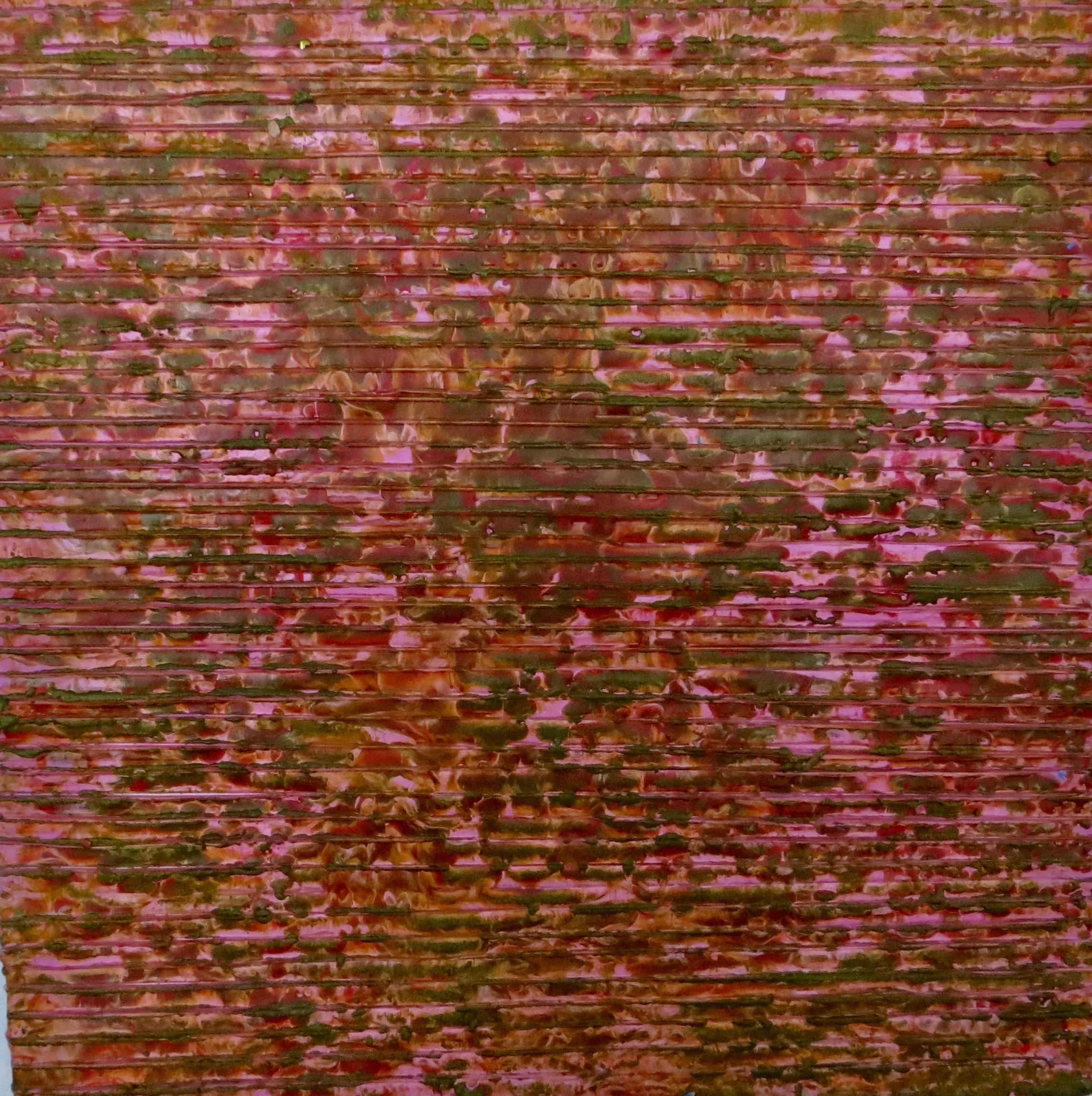"Annette Lieblein, Spring Awakening, Encaustic painting, 12""x12"", $700"
