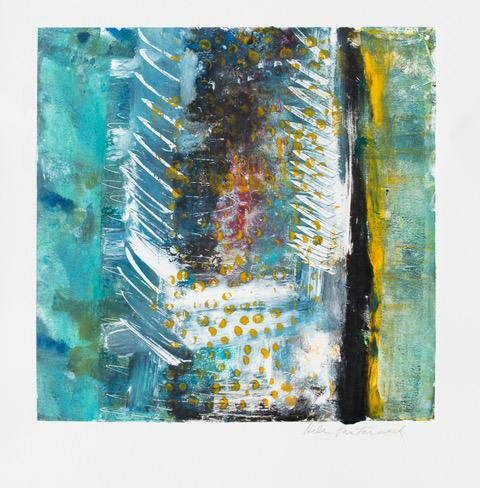 "Helen Pasternack, Jagged Edges, Monotype, 12""x12"", $350"
