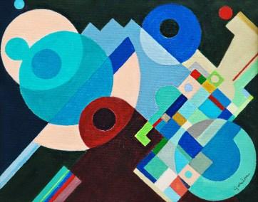 "Larry Gordon, My Time, Acrylic (Framed), 10""x8.5"", $750"