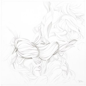 "Suzanne Montresor, Moonfower Bound, Graphite on paper, 28""x28"",$1,000"