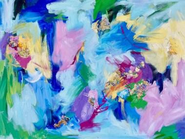 """Aimee Hofmann, Bizarre Love Triangle 5, Acrylic on canvas, 30""""x40"""", $1,400"""