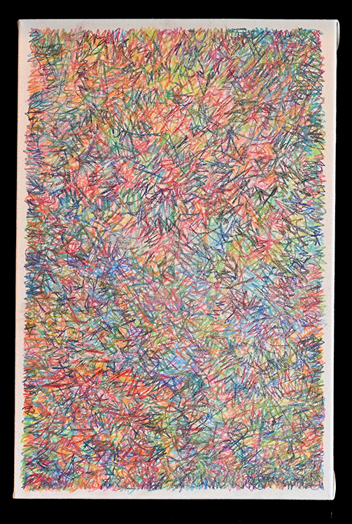 """Bryan Greene, Untitled Drawing One, Colored Pencil on Canvas, 24""""x16"""", $350"""