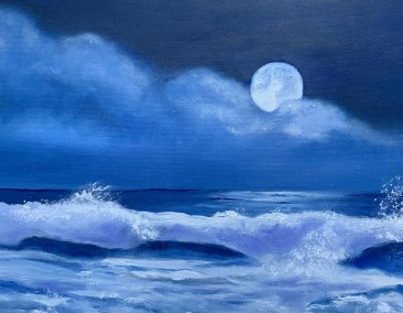 "Barbara Hamill, King Tide, Oil on canvas, 14""x18"", $900"