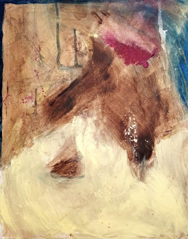 "Leslie Hardie, Earth song, Acrylic on canvas, 16""x20"", $850"
