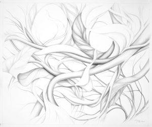 "Suzanne Montresor, Windswept, Grasphite with watercolor washbv, 28""x32"", $1,200"