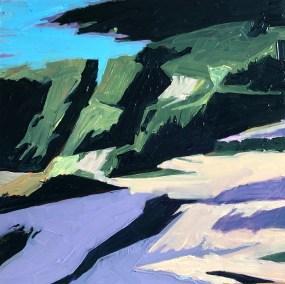 "Marion Schneider, Manor Park#1, Acrylic, 12""x12"",$900"