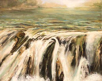 """Deborah Petrucci, Surge II, Oil on canvas, 16""""x20"""",$575"""