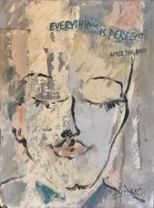 "Denise Petit Caplan, Perfect, Mixed media, 9""x12"", $250"