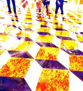 """Steven Levine, Quick Feet On Waxed Tiles, Abstract Photograph, 16""""x15"""", $425"""