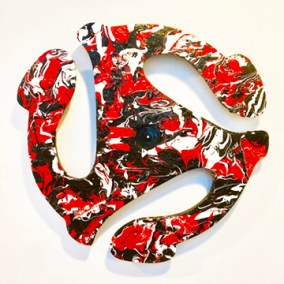 "Joan Lengel, 45 Rock, Wall sculpture, 20""x20"", $350"