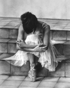 """Carol Gromer, Steps, Charcoal and conte, 27.5""""x23"""", $4,000"""